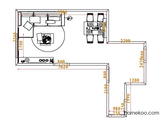 平面布置图乐维斯系列客餐厅G7846