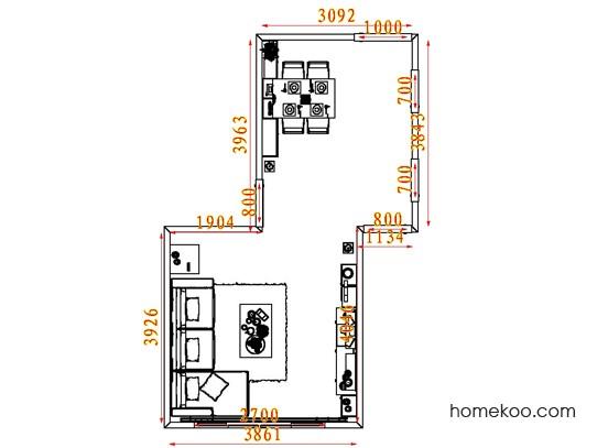 平面布置图贝斯特系列客餐厅G7864