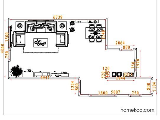 平面布置图贝斯特系列客餐厅G7880