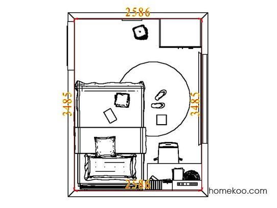 平面布置图斯玛特系列青少年房B7197