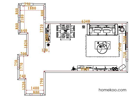 平面布置图斯玛特系列客餐厅G7903