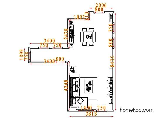 平面布置图乐维斯系列客餐厅G7914