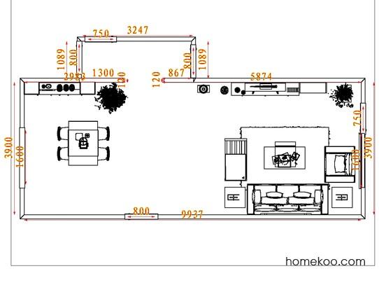 平面布置图贝斯特系列客餐厅G7923