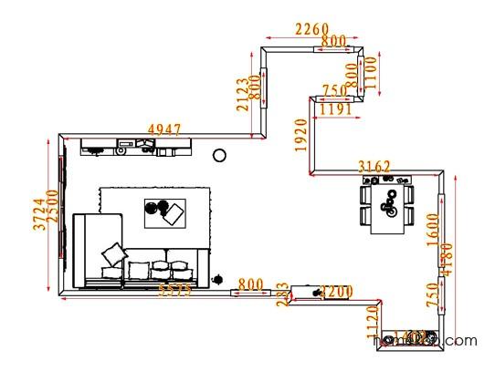 平面布置图格瑞丝系列客餐厅G7925