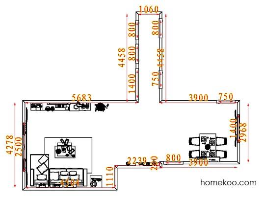平面布置图斯玛特系列客餐厅G7930