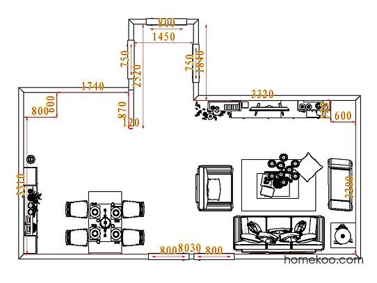 平面布置图斯玛特系列客餐厅G7933