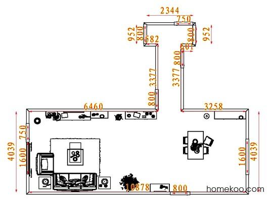 平面布置图斯玛特系列客餐厅G7947