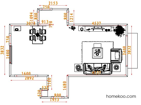 平面布置图德丽卡系列客餐厅G7948