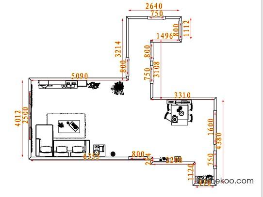 平面布置图德丽卡系列客餐厅G7951