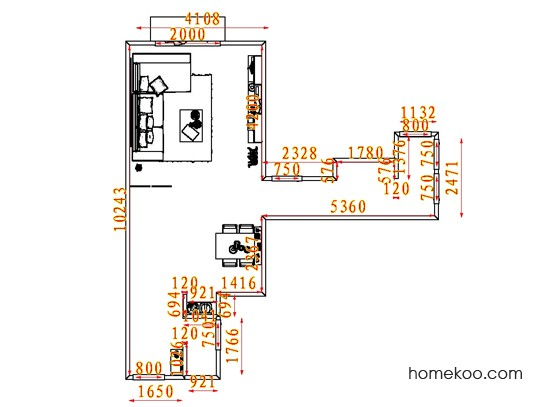 平面布置图贝斯特系列客餐厅G7957