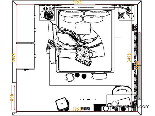 平面布置图贝斯特系列卧房A7949