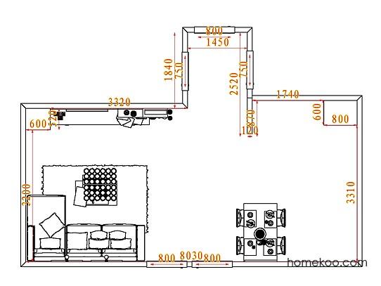 平面布置图乐维斯系列客餐厅G7961