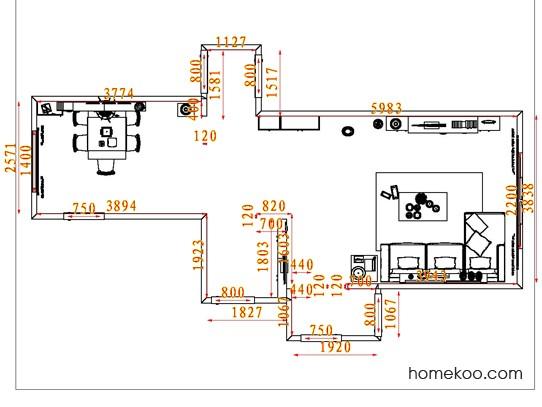 平面布置图贝斯特系列客餐厅G7975