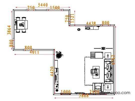 平面布置图格瑞丝系列客餐厅G7979