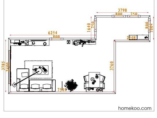 平面布置图贝斯特系列客餐厅G7982