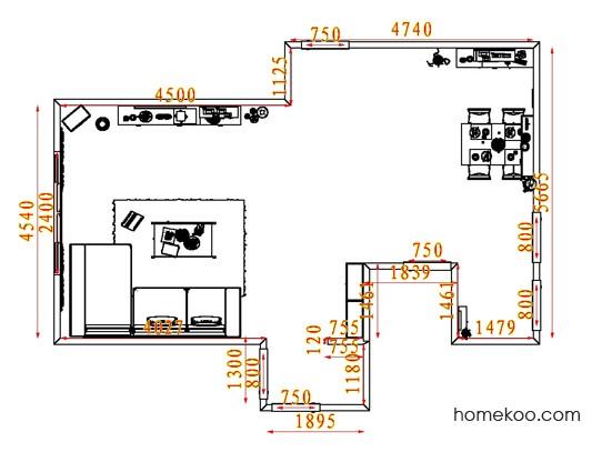 平面布置图斯玛特系列客餐厅G7991