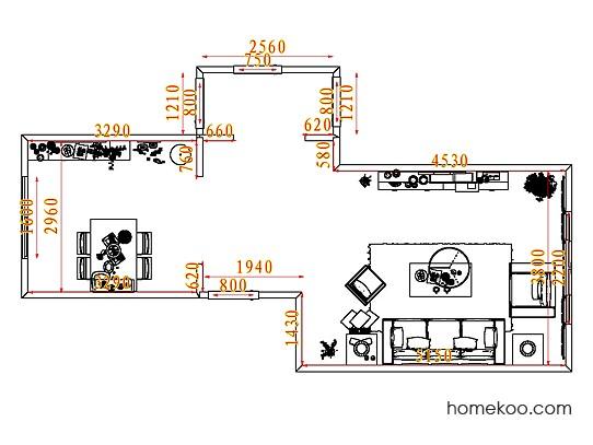 平面布置图贝斯特系列客餐厅G7996
