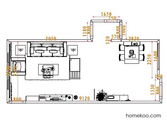 平面布置图德丽卡系列客餐厅G8014