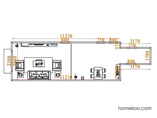平面布置图贝斯特系列客餐厅G8017