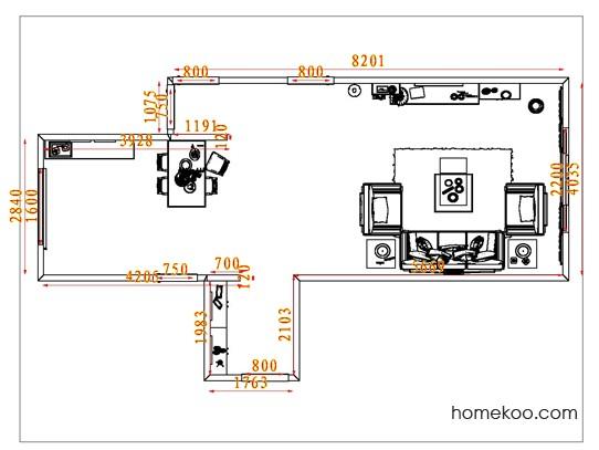 平面布置图柏俪兹系列客餐厅G8023