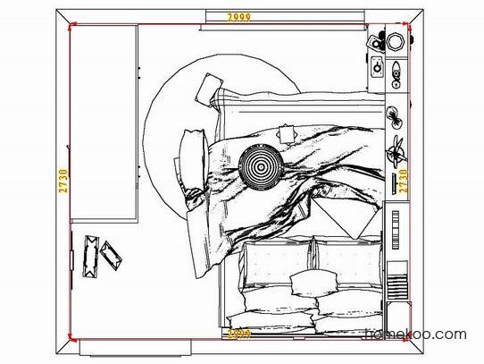 平面布置图格瑞丝系列卧房A8046