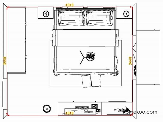 平面布置图斯玛特系列卧房A8051