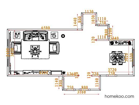 平面布置图贝斯特系列客餐厅G8037