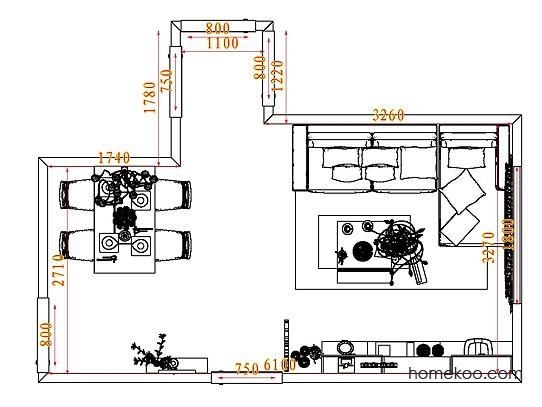 平面布置图斯玛特系列客餐厅G8051