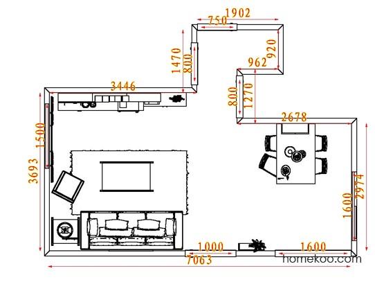 平面布置图柏俪兹系列客餐厅G8053