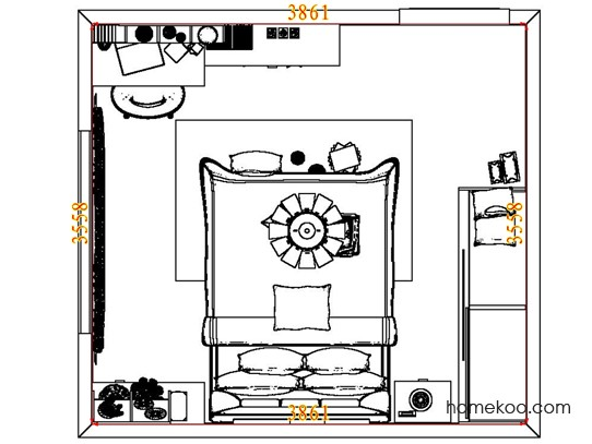 平面布置图柏俪兹系列卧房A8088