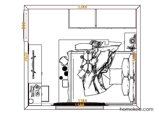 平面布置图格瑞丝系列卧房A8142