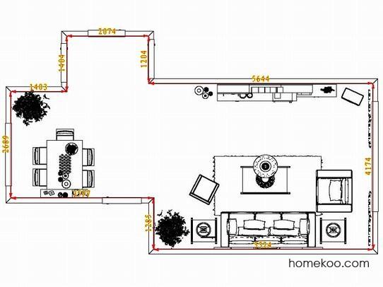 平面布置图德丽卡系列客餐厅G8074