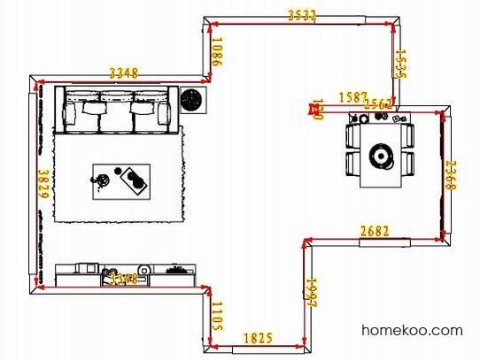 平面布置图德丽卡系列客餐厅G8077