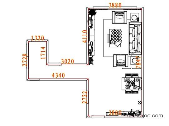 平面布置图德丽卡系列客餐厅G8086