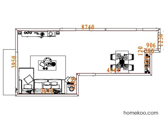 平面布置图斯玛特系列客餐厅G8093