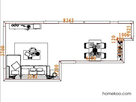 平面布置图乐维斯系列客餐厅G8094