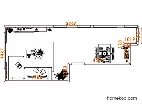 平面布置图柏俪兹系列客餐厅G8095