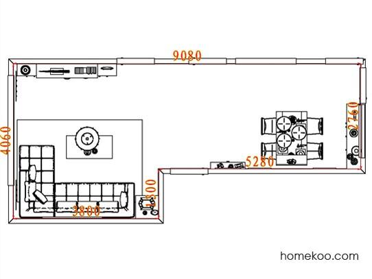 平面布置图贝斯特系列客餐厅G8105