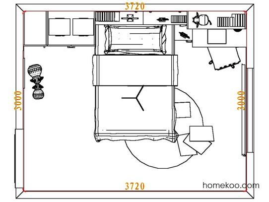 平面布置图德丽卡系列青少年房B7385