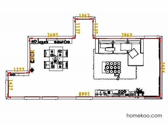 平面布置图德丽卡系列客餐厅G8135