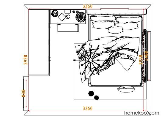 平面布置图乐维斯系列卧房A8241