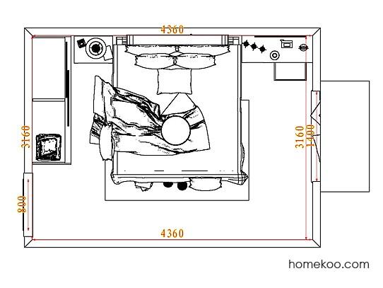 平面布置图格瑞丝系列卧房A8289