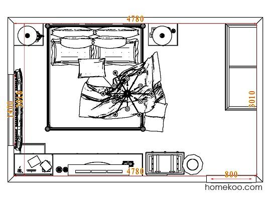平面布置图贝斯特系列卧房A8293