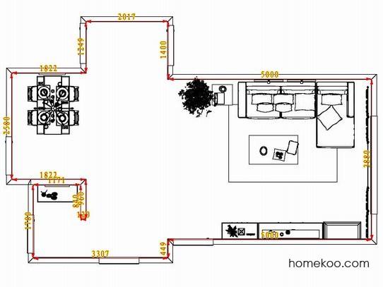 平面布置图斯玛特系列客餐厅G8209