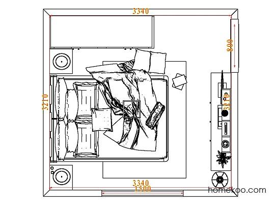 平面布置图德丽卡系列卧房A8315