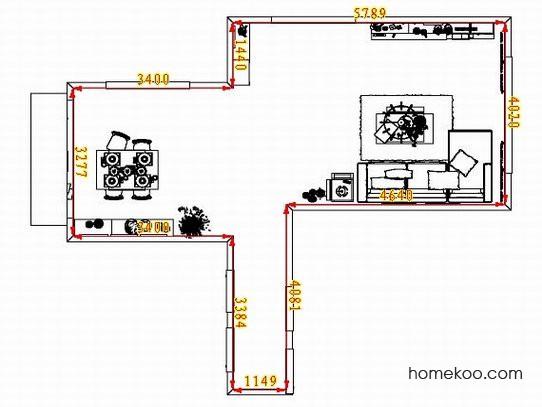 平面布置图斯玛特系列客餐厅G8221