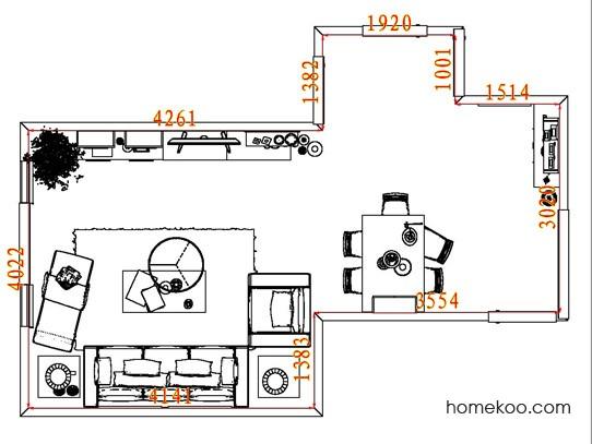 平面布置图德丽卡系列客餐厅G8229