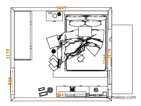 平面布置图柏俪兹系列卧房A8323