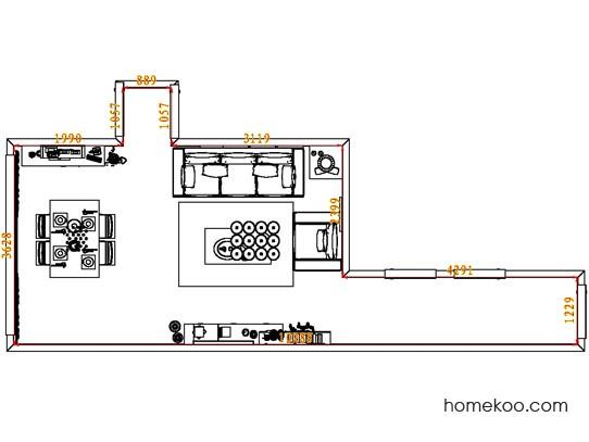 平面布置图斯玛特系列客餐厅G8243