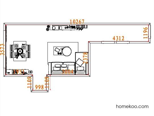 平面布置图德丽卡系列客餐厅G8246